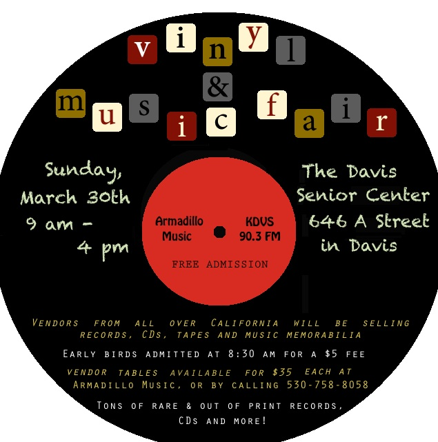 Vinyl and Music Flyer