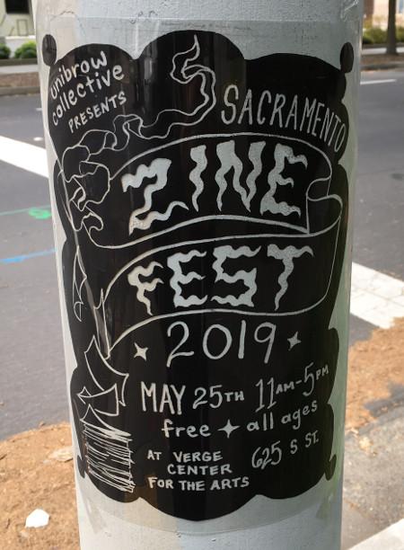 Sac Zine Fest 2019 Flyer